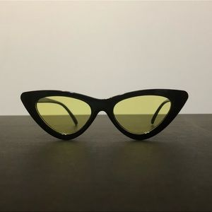 Retro Geometric Cat Eye Triangular Sunglasses